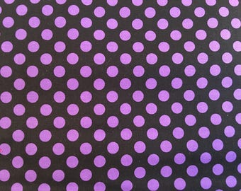 Purple and black dot fabric - Halloween fabric - Robert Kaufman Spot On #17020