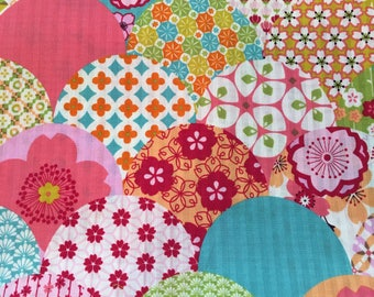 Origami Paper Piecing Japanese Cotton Dobby Pink and Blue