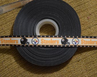 "Pittsburgh Steelers 7/8"" Grosgrain Ribbon"