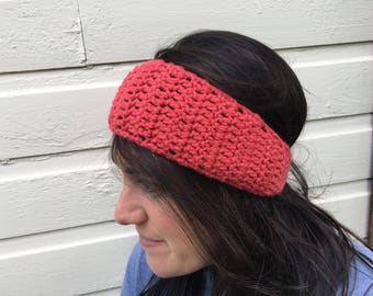 Women's Crochet Ear Warmer Crochet Earwarmer Headband Head Wrap With Button Closure - ANY COLOR