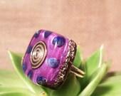 Lapis Lazuli Orgone Ring – Energy Balancing and EMF Protection - Root Chakra Balancing - Spiritual Gift - Small Square