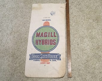 Vintage Magill Hybrids Seed Sack Fargo ND