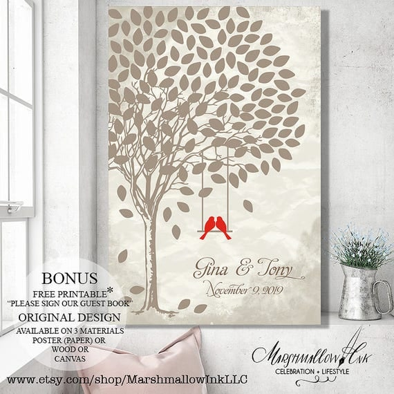 Alternative Wedding Gifts: Items Similar To Rustic Guest Book Ideas Wedding Gift