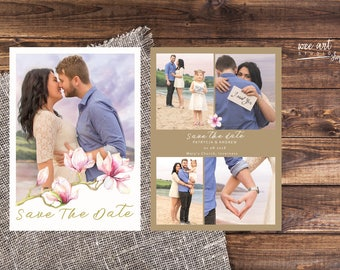 Save The Date Magnolia Templates for Photographers 7x5