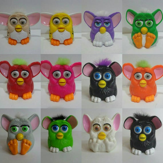 Collectible s mcdonalds furby toy happy meal collection cake