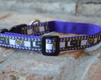 LSU Dog Collar