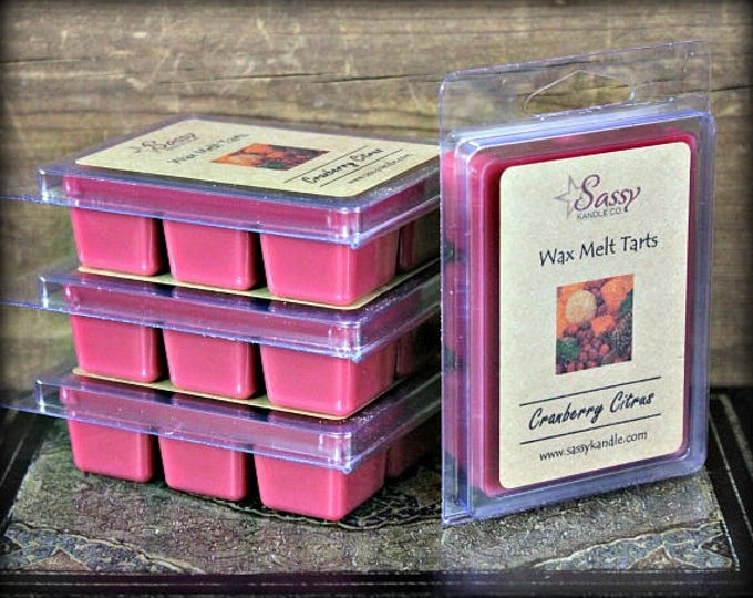 CRANBERRY CITRUS   Wax Melt Tart   Sassy Kandle Co.