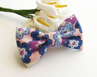 Pink Floral Hair Bow for girl /Kids Hair Bow/Hair Bow for school/Baby Hair Bow/Child Hair Bow/b7