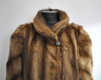 Vintage MINK FUR COAT , women's winter fur coat..............(581)