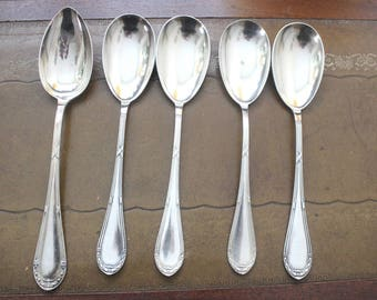 Serving utensils, 5 parts 90versilbert, V.S.F.Düsseldorf, 1900