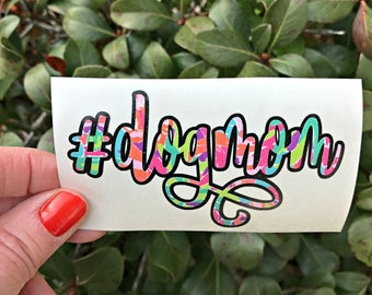 Personalized Dog Mom Vinyl Decal, Pet Owner Gift, Dog Lover Sticker, Pet Decal for Laptop, Dog Mom Window Sticker, Dog Decal, N01518