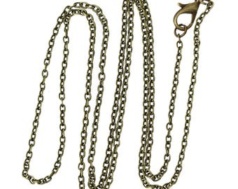 """Bronze Cable Link Chains - 24"""""""