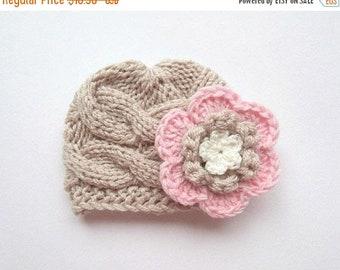 10% DISCOUNT SALE Newborn Baby Girl Hat , Knit Toddler Girl Hat , Baby Hat Photo Prop , Winter  Baby Toddler Hat