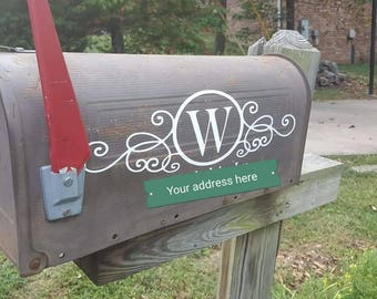 Personalized mailbox decal, customized mailbox decal personalized address decal customized mailbox decal