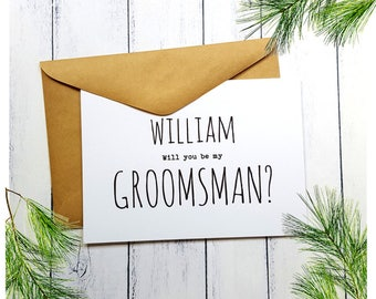 Personalised Will you be my Groomsman Card | Best Man Card | Wedding Party Card | Card for Groomsman