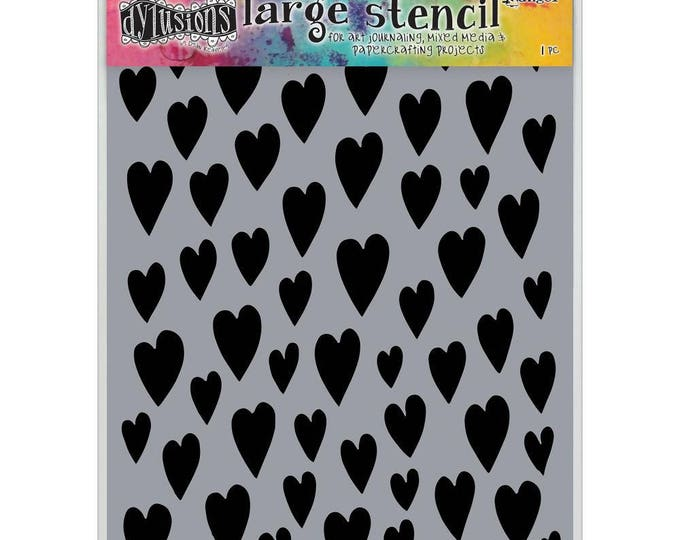 Ranger Dylusions LOVE HEARTS Large 9x12 Stencil by Dyan Reaveley