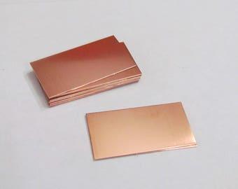7/8 x 1 3/4   - Copper Blanks  -Rectangle blanks -22G  -bracelet blanks -  Hand stamping metal Blanks -  copper pendants - enamel blanks