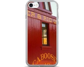 iPhone 7/7 Plus Case - Red Silo Original Art - Denver & Rio Grande Caboose