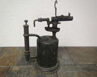 vintage Blow Torch , solder torch, antique torch, soldering heating tool, primitive decor