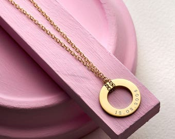 Personalised Memorable Date Necklace