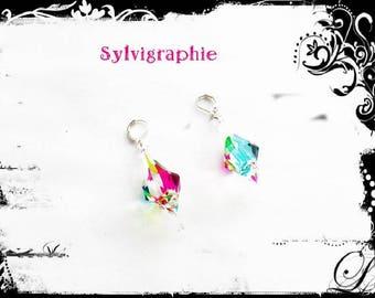 Pendants earrings colorful