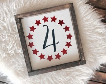 4th of July Sign / 4th of July Decor / Independence Day / Summer Sign / Summer Decor