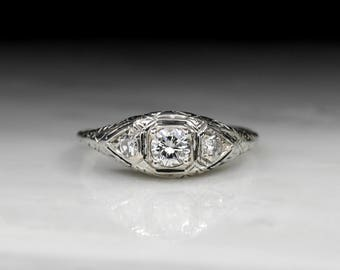 payment towards vintage art deco engagement ring modern round brilliant - Art Deco Wedding Rings
