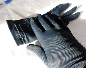 Vintage Navy blue gloves Size 7