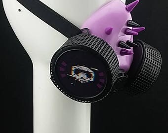Sombra inspired by Overwatch game Respirator Cosplay Cyberpunk Gothic Bondage Masks Anime Alternative Accessories