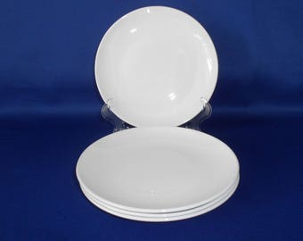 """Centura by Corning, """"White Coupe"""" Bread & Butter Plates"""