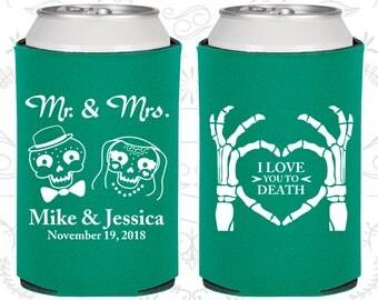I Love you to Death, Sugar Skull Wedding, Day of the Dead Wedding, Candy Skull Wedding Favors, Dia De Los Muertos Wedding Favors (206)