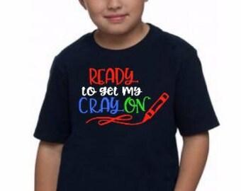 Back to School Kindergarten Shirt Cray On
