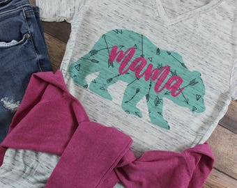 Boho Mom Shirt/ Boho Mama Bear Shirt/ Tribe Shirt/ Follow Your Arrow Shirt/ Mom Life Shirt/ Mama Bear Shirt/ Arrow Shirt/ Mamma Bear