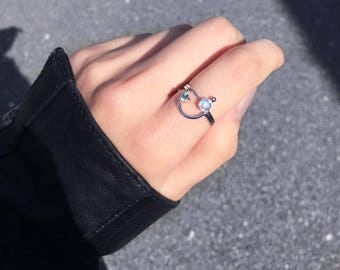 CLOUD NINE Ring | gemstone stacking ring | sterling silver ring | Spinel Ring