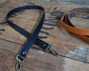 Replacement Leather Shoulder Bag Strap 19mm wide x 600mm long With lobster clasps Crossbody Bag Purse Handbag Luggage Duffle Tote Briefcase