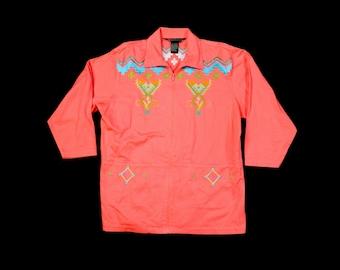 Vintage Aztec Print Jacket