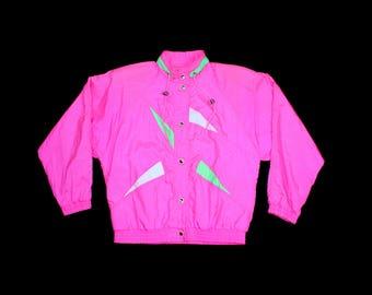 Vintage Neon Windbreaker
