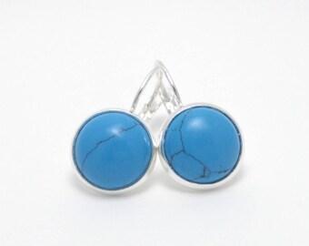 Earrings turquoise cabochon Stud Earrings