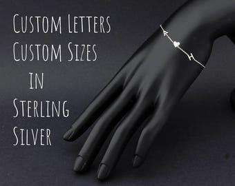 Dainty Bracelet, Initial Bracelet, Personalized Bracelet, Letter Bracelet, Monogram Bracelet, Bridesmaid Gift, Gift Her, Super Tiny Bracelet