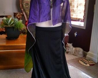 Silk tye dye vest duster