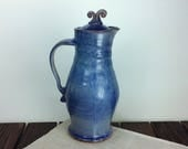 Large teal blue ceramic p...