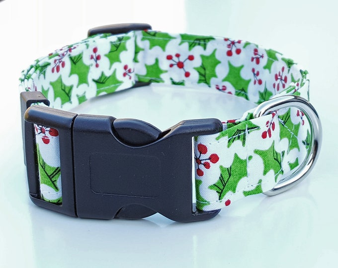 Dog Collar - Funky Christmas Holly