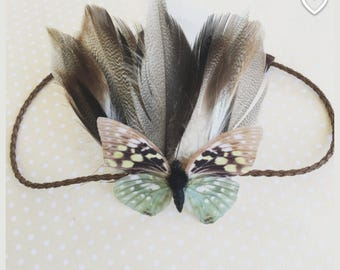 Boho feather crown