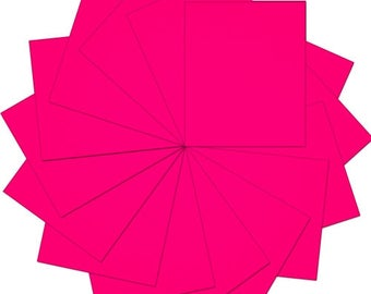 "Pre-cut Sheets Solid Color Heat Transfer Vinyl - Neon Pink - 15 sheets -10""x12"""