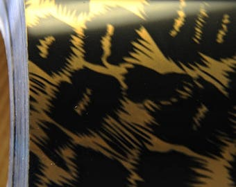 """Leopard Metallic Foil 20"""" Heat Transfer Vinyl Film By The Yard"""