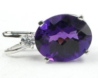 On Sale, 20% Off, Amethyst, 925 Sterling Silver Pendant, SP022
