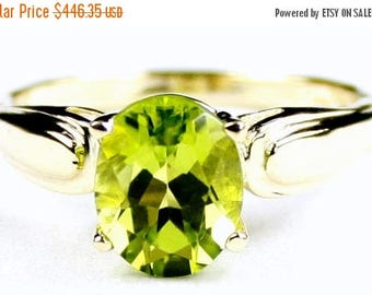 On Sale, 30% Off, Peridot, 14Ky Gold Ring, R058