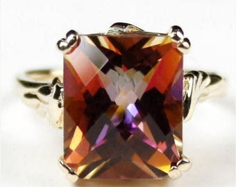 On Sale, 30% Off, Twilight Fire Topaz, 14KY Gold Ring, R188
