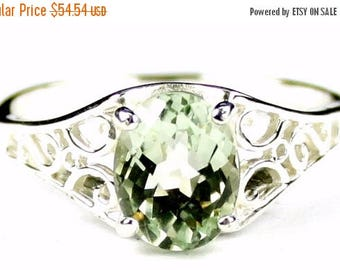 On Sale, 30% Off, Green Amethyst, 925 Sterling Silver Ring, SR305