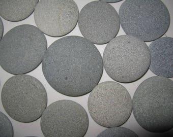 """20 Round Stones 2.5""""- 3"""" Mandala Painting Stones, Large, Flat, Smooth, Beach Rocks, Wishing Stones, Wedding Decor,Unique"""